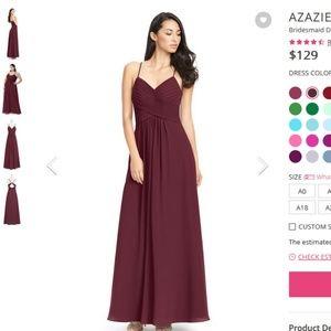 d0c59e65ac Azazie Dresses - Azazie Haleigh Bridesmaid Dress- Cabernet